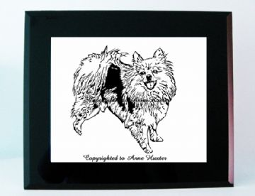 Pomeranian Dog Vinyl Design